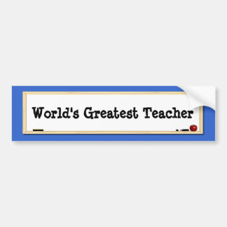 World's Greatest Teacher Whiteboard Bumper Sticker