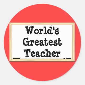 World's Greatest Teacher Whiteboard Sticker
