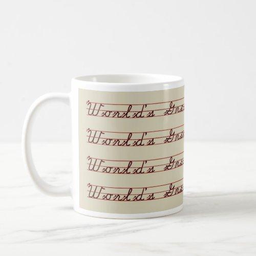 World's Greatest Teacher Writing Lesson Coffee Mug