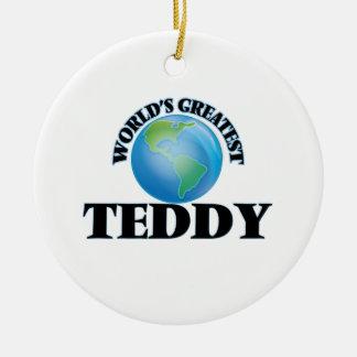World's Greatest Teddy Christmas Ornament