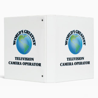 World's Greatest Television Camera Operator 3 Ring Binders