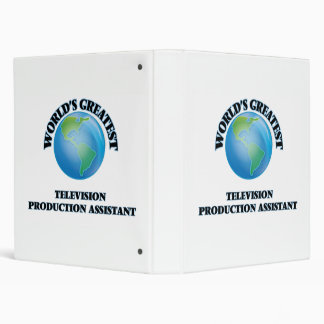 World's Greatest Television Production Assistant Vinyl Binder