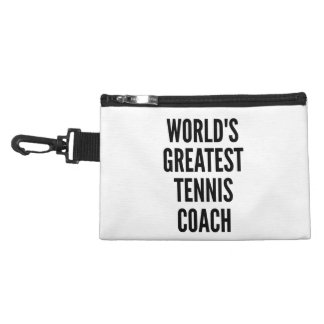 Worlds Greatest Tennis Coach Accessory Bag