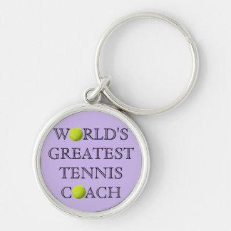 World's Greatest Tennis Coach Keychain