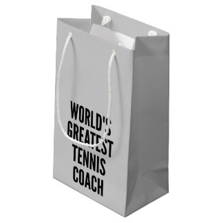 Worlds Greatest Tennis Coach Small Gift Bag