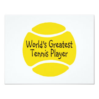 Worlds Greatest Tennis Player 4.25x5.5 Paper Invitation Card