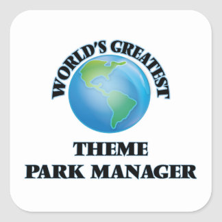 World's Greatest Theme Park Manager Square Sticker