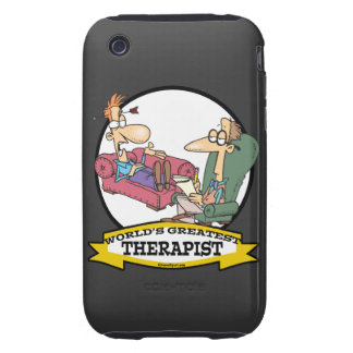 WORLDS GREATEST THERAPIST MEN CARTOON TOUGH iPhone 3 CASES