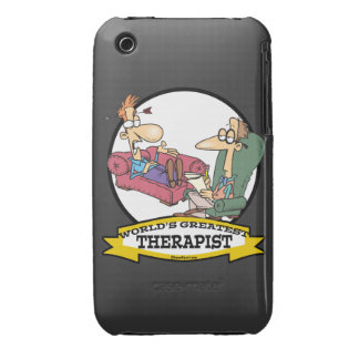 WORLDS GREATEST THERAPIST MEN CARTOON iPhone 3 Case-Mate CASES