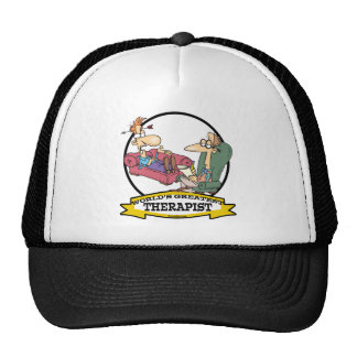 WORLDS GREATEST THERAPIST MEN CARTOON HATS