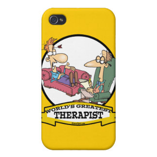 WORLDS GREATEST THERAPIST MEN CARTOON CASE FOR iPhone 4