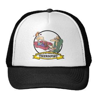 WORLDS GREATEST THERAPIST MEN CARTOON TRUCKER HAT