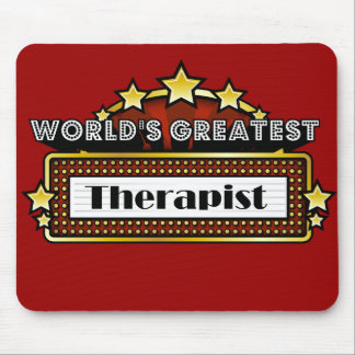 World's Greatest Therapist Mouse Pad