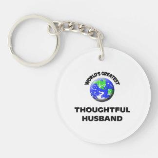 World's Greatest Thoughtful Husband Single-Sided Round Acrylic Keychain
