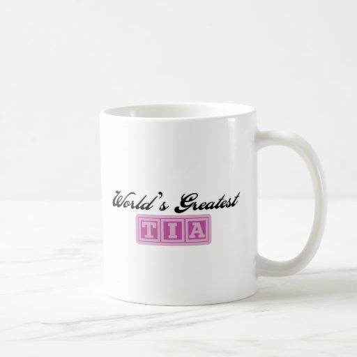 World's Greatest Tia Classic White Coffee Mug