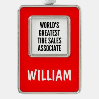 Worlds Greatest Tire Sales Associate Ornament