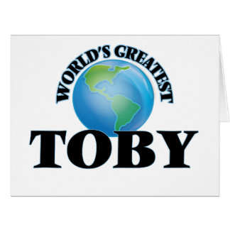 World's Greatest Toby Large Greeting Card