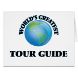 World's Greatest Tour Guide Large Greeting Card