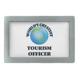 World's Greatest Tourism Officer Rectangular Belt Buckle