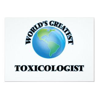 World's Greatest Toxicologist 5x7 Paper Invitation Card