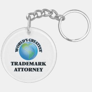 World's Greatest Trademark Attorney Acrylic Key Chain
