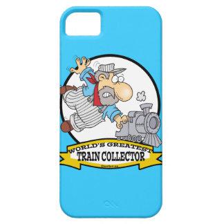 WORLDS GREATEST TRAIN COLLECTOR MEN CARTOON iPhone SE/5/5s CASE