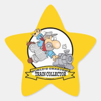 WORLDS GREATEST TRAIN COLLECTOR MEN CARTOON STAR STICKER
