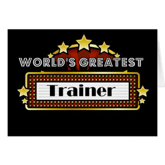 World's Greatest Trainer Card