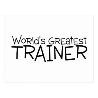 Worlds Greatest Trainer Postcard