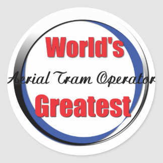 Worlds Greatest Tram Operator Classic Round Sticker