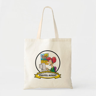 WORLDS GREATEST TRAVEL AGENT WOMEN CARTOON TOTE BAG