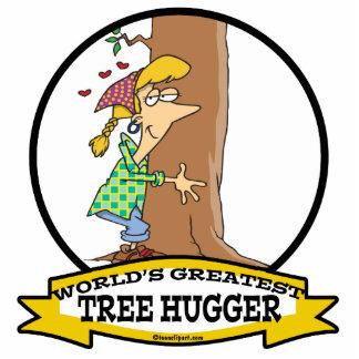 WORLDS GREATEST TREE HUGGER CARTOON PHOTO SCULPTURES