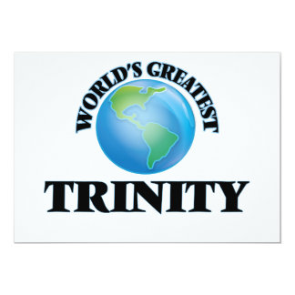 World's Greatest Trinity 5x7 Paper Invitation Card