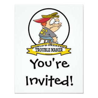 WORLDS GREATEST TROUBLE MAKER CARTOON CARD