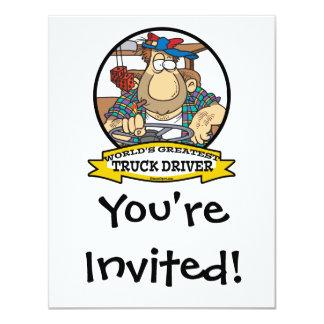 WORLDS GREATEST TRUCK DRIVER MEN CARTOON CARD