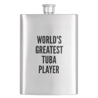 Worlds Greatest Tuba Player Hip Flask