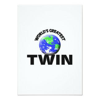 World's Greatest Twin 5x7 Paper Invitation Card