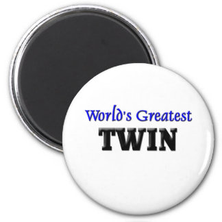 World's Greatest Twin 2 Inch Round Magnet