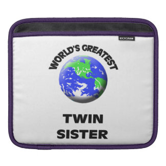World's Greatest Twin Sister Sleeve For iPads