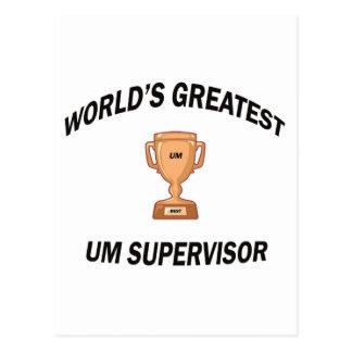 WORLD'S GREATEST UM SUPERVISOR POSTCARD