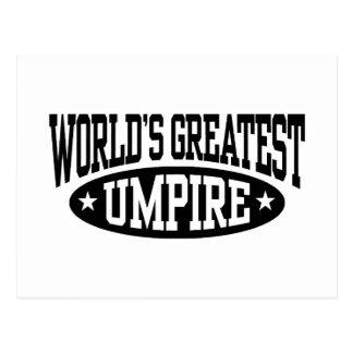 World's Greatest Umpire Postcard