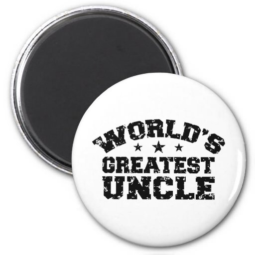 World's Greatest Uncle 2 Inch Round Magnet