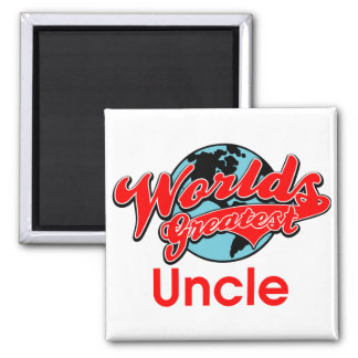 World's Greatest Uncle 2 Inch Square Magnet