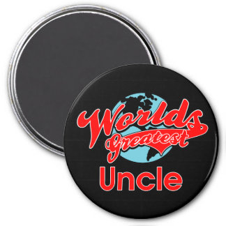 World's Greatest Uncle 3 Inch Round Magnet