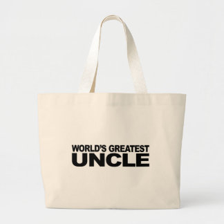 World's Greatest Uncle Canvas Bags