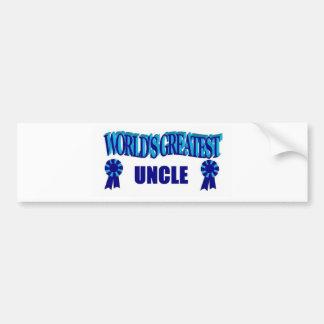 World's Greatest Uncle Car Bumper Sticker