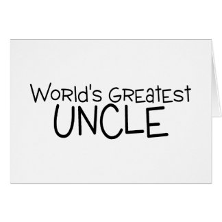 Worlds Greatest Uncle Card