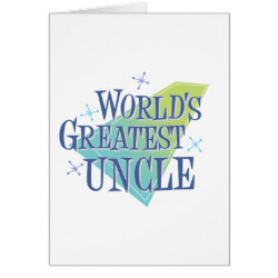 Greeting Card with World's Greatest Uncle design