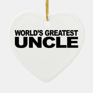 World's Greatest Uncle Ceramic Ornament