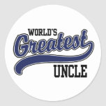 World's Greatest Uncle Classic Round Sticker